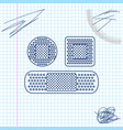 set bandage plaster line sketch icon isolated on vector image
