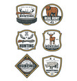 set of huntings icons vector image vector image
