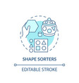 shape sorters turquoise concept icon vector image