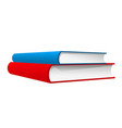 stack of two books - red and blue books vector image vector image
