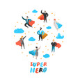 superhero business people characters business vector image