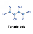 Tartaric is an alpha-hydroxy-carboxylic acid vector image vector image