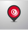 tunisia map pin vector image vector image