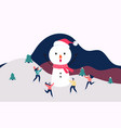 winter landscape snowy street and winter holiday vector image vector image