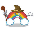 witch colorful rainbow character cartoon vector image