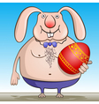 cool easter bunny vector image