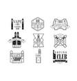 vape club black and white emblems vector image
