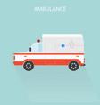 ambulance car emergency medical service vector image