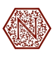 Logo design Artistically Drawn Stylized Vintage vector image