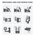 mechanic car icon vector image