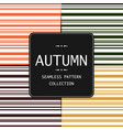 10 autumn seamless patterns endless vector image vector image
