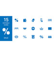 15 sale icons vector image vector image