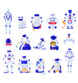 artificial intelligence machines set vector image vector image