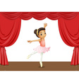 Ballerina on stage vector image vector image