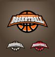 basketball championship logo t-shirt design vector image vector image