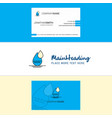beautiful water drop logo and business card vector image