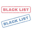 black list textile stamps vector image vector image