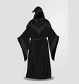 black long wizard uniform vector image vector image
