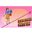 businesswoman acrobat business circus
