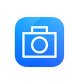 camera glossy flat icon photo symbol vector image