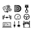 Car maintenance and repair icon set vector image vector image