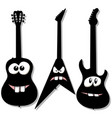 cartoon character guitars vector image vector image