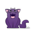 cartoon images of cute different purple vector image vector image