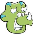 Cartoon Triceratops Head vector image vector image