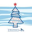 christmas line art icons set in christmas tree vector image vector image