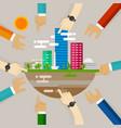 city development people engaging activities vector image