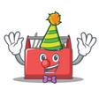 clown tool box character cartoon vector image