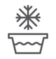 cold water line icon temperature and wash basin vector image