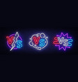 collection versus neon signs set versus vector image vector image