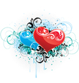 composition with hearts vector image