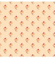 Cupcake tile delicious background wallpaper vector image
