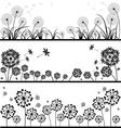 Dandelions set vector image vector image