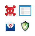 data center security icons vector image