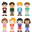 different kids expressions vector image vector image