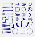 directions and arrows signs vector image vector image