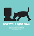 Dog With A Food Bowl Symbol vector image vector image