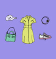 drawing of look book trendy collection of summer vector image vector image