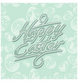 easter lettering pattern blue vector image