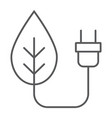 eco power thin line icon ecology and energy vector image vector image