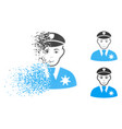 fractured pixelated halftone sheriff icon with vector image vector image