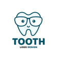 fun cute happy smart smiling tooth vector image