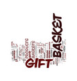 gift basket surprise text background word cloud vector image vector image