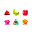 glossy candies set multicolored sweets of vector image vector image