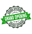 grand opening stamp sign seal vector image vector image