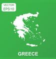 greece map icon business concept greece pictogram vector image vector image