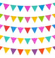 Group Hanging Bunting Party Flags vector image vector image
